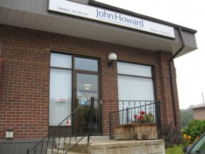 Front door entrance to the John Howard Society in Minden Ontario.